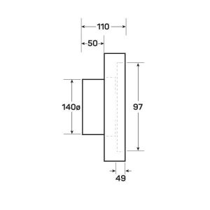 Dimensions for allvent frameless vent