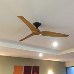 Outdoor ceiling fans fans for alfresco patio coastal locations infinity ceiling fan dc motor 54 with remote black with timber look blades aloadofball Image collections