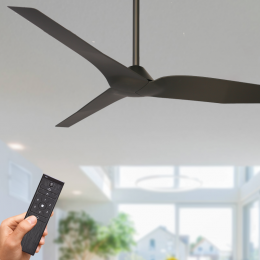 Outdoor ceiling fans fans for alfresco patio coastal locations infinity ceiling fan dc motor 54 with remote black mozeypictures Images