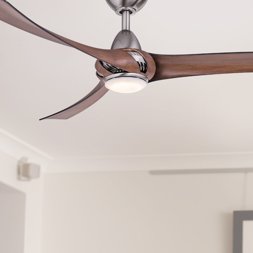 Aeroforce ceiling fan with led light 52 shadow chrome koa aeroforce ceiling fan with led light 52 shadow chrome koa lumera living mozeypictures Gallery