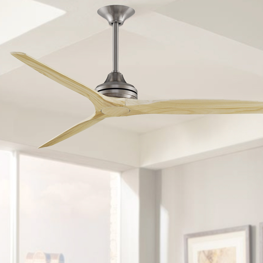 Spitfire Ceiling Fan 60 Brushed Nickel With Natural Blades Lumera Living