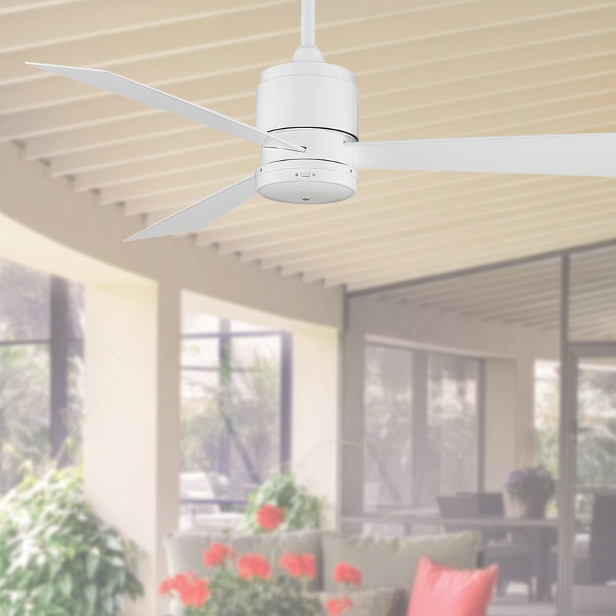 Zonix ceiling fan 52 white lumera living aloadofball Choice Image