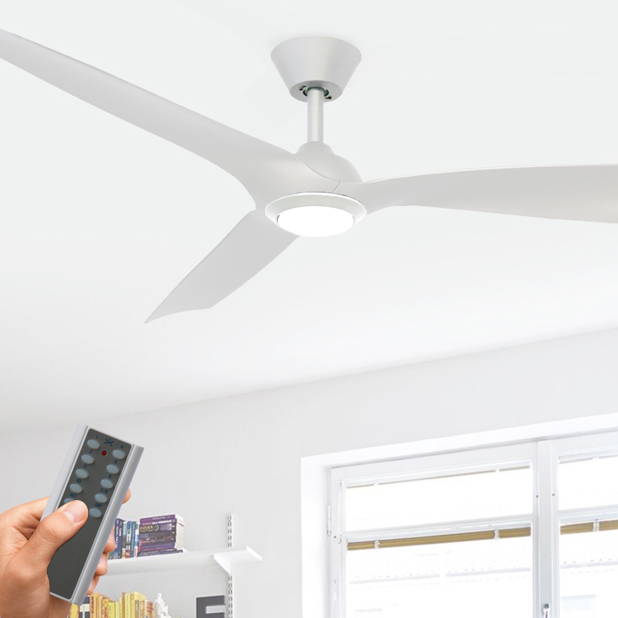 Trinidad Ii Dc Ceiling Fan With Led Light Remote 52 White