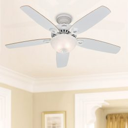 Traditional ceiling fans retro style fans lumera living builder deluxe ceiling fan with light 52 white aloadofball Gallery