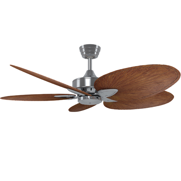 Windpointe Ceiling Fan Ac Motor 52 With Wall Control Brushed Nickel Leaf Blade Options Lumera Living
