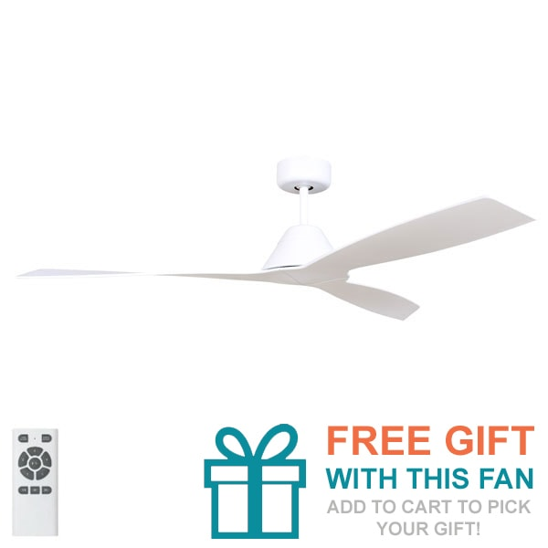 Fanco Eco Breeze Ceiling Fan Dc Motor 52 White