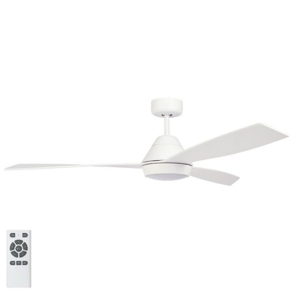 white eco breeze ceiling fan