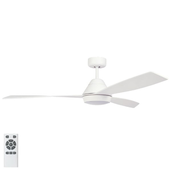 White Eco Breeze Dc Ceiling Fan With Led Amp Remote 52