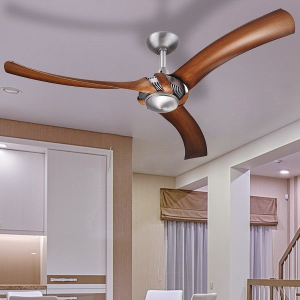 aeroforce 2 ceiling fan brushed aluminium