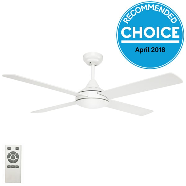 Eco Silent Dc Fan 48 With Remote White Lumera Living