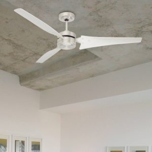 brushed steel loft ceiling fan
