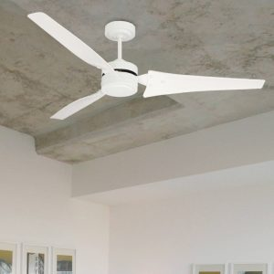 white loft ceiling fan