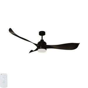 black mercator ceiling fan with light