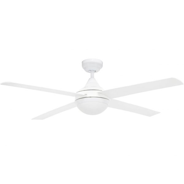 white Bulimba ceiling fan with Light