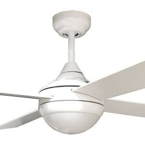 white tempo dc ceiling fan with light