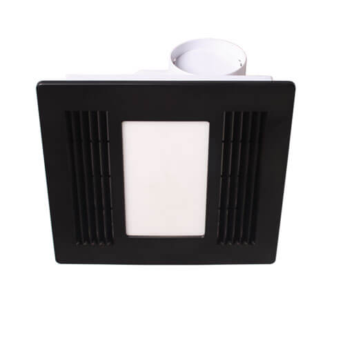 Black Exhaust Fan with CCT LED Light