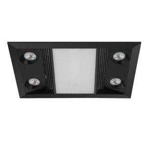 Inferno exhaust fan with heat and light black