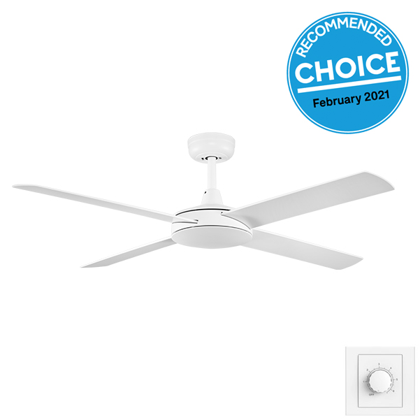 Eco Silent Deluxe 52″ Wall Control White