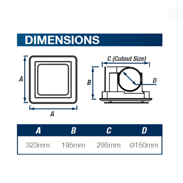 dimensions ovation 250 ventair